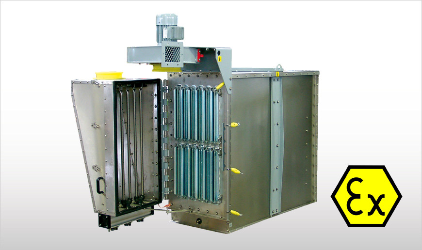 Flanged Polygonal Dust Collectors ATEX-certified